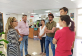 Professionals d'Atrápalo visitant el Centre residencial d'Hort de la vila