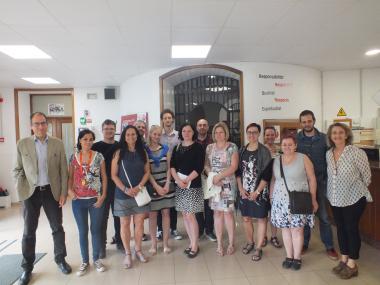 Una delegació d'Otrokovice visita el centre d'Hort de la vila